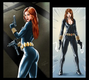 For the Black Widow character Jam @ Drawingboard.Org