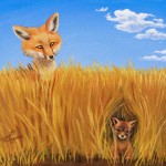 Foxes - Charity Auction – Art Blocks for Ghana - Acrylics on Canvas